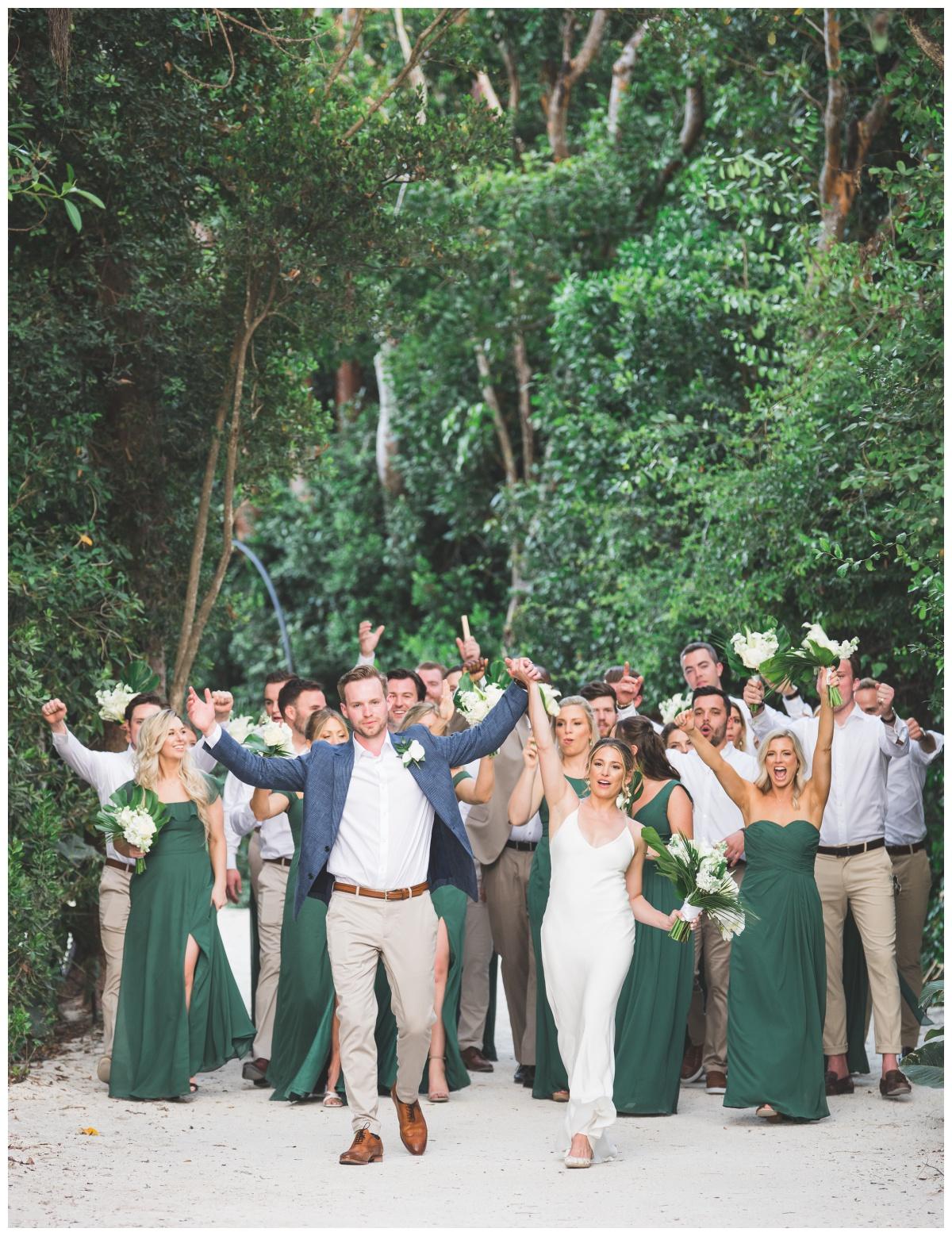 Tropical Green wedding