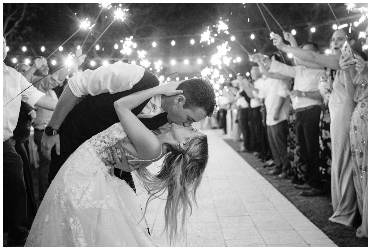 Florida wedding sparkler sendoff